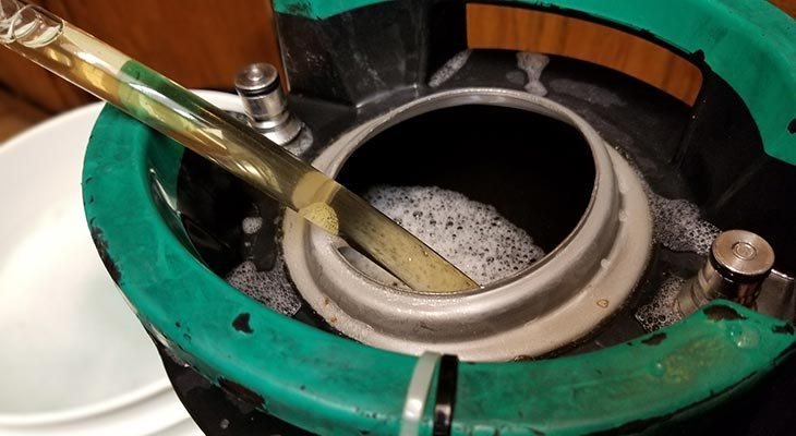 Transferring beer to a keg