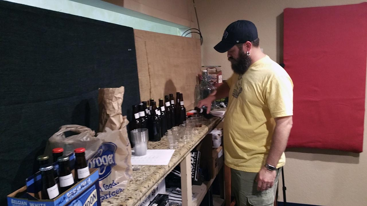 Chris Pouring samples